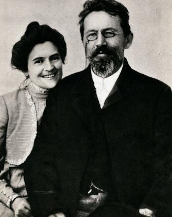 Anton Chekhov with Wife Olga L. Knipper-Chekhova